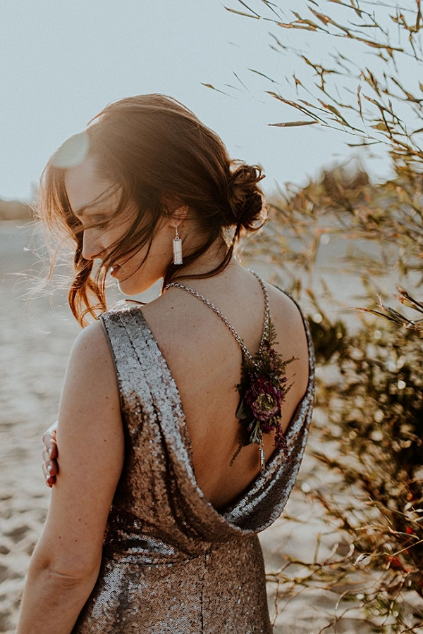 Moody Jewel Tone Metallic Beach Wedding The Hursts & Co