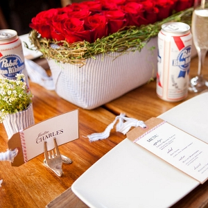 4th of July Inspired Americana Wedding Table Setting Siegel Thurston Photography