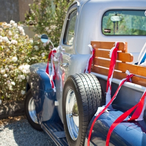 4th of July Inspired Americana Wedding 1951 Ford Pickup Truck Siegel Thurston Photography