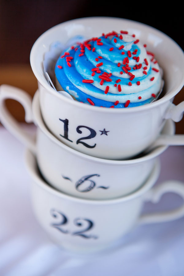 4th of July Inspired Americana Wedding Decor & Cupcakes Siegel Thurston Photography