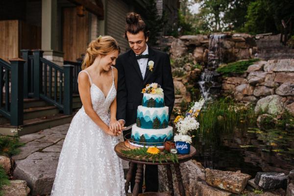 Lakeside glamping wedding inspiration