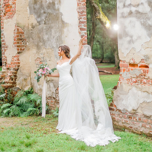 Old Sheldon Church Ruins Bridals Casey Hendrickson Photography