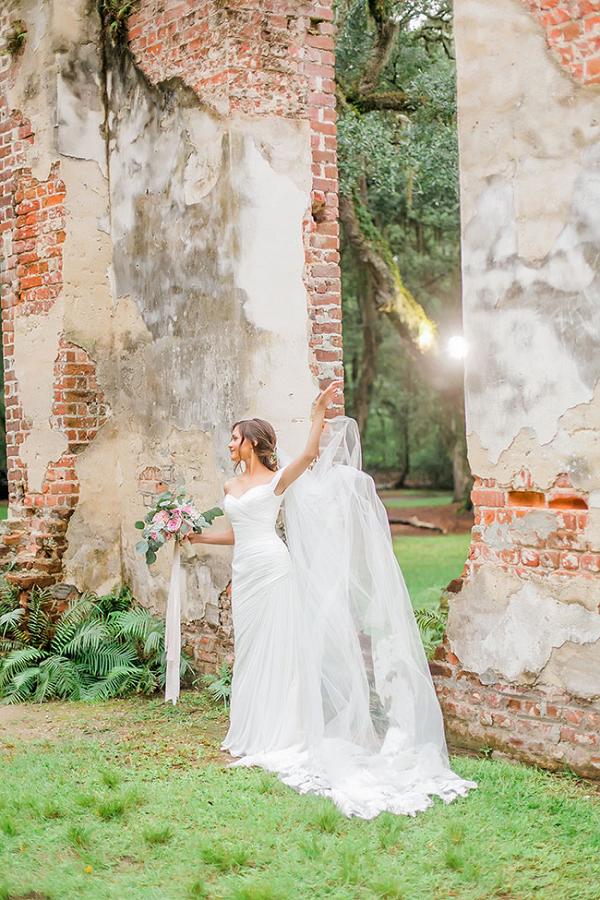 Old Sheldon Church Ruins Bridals Casey Hendrickson Photography