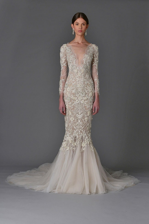 Mermaid Marchesa Wedding Dress from the Spring Summer 2017 Collection