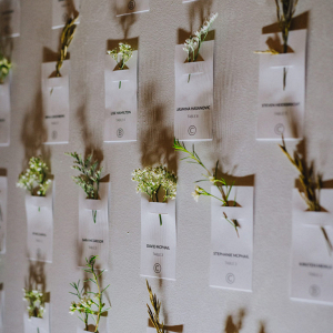Place cards wall