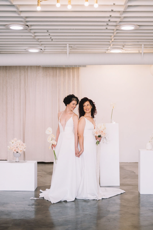 Modern elopement at new Las Vegas wedding chapel