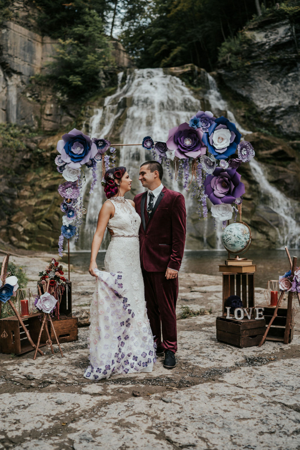 Moody and edgy vow renewal inspiration