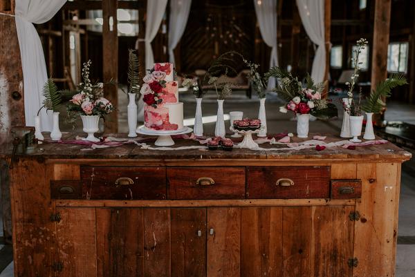 Bridal session tablescape