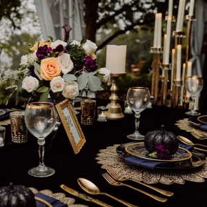Moody black wedding inspiration