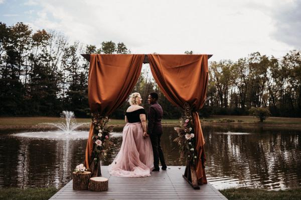 Moody fall farmstead wedding inspiration
