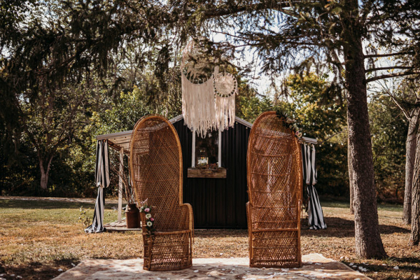 Wicker chairs and dreamcatchers