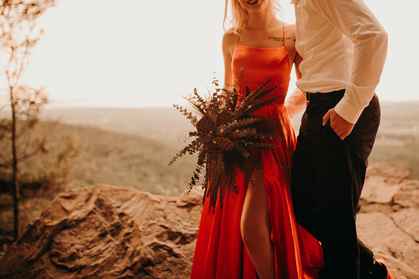Mystical mountainside elopement inspiration