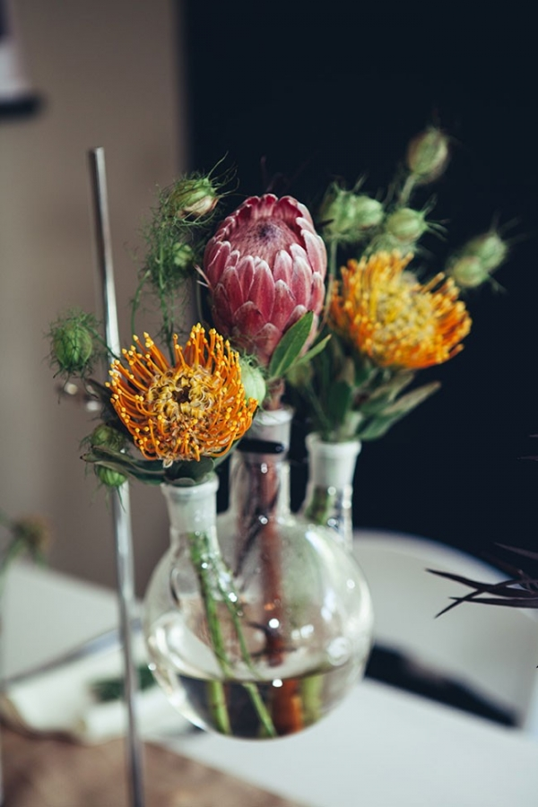Unique Science Inspired Variation On Wedding Centerpieces A Heart String