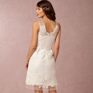 BHLDN Celestina Bridesmaid Dress Back View in Ivory