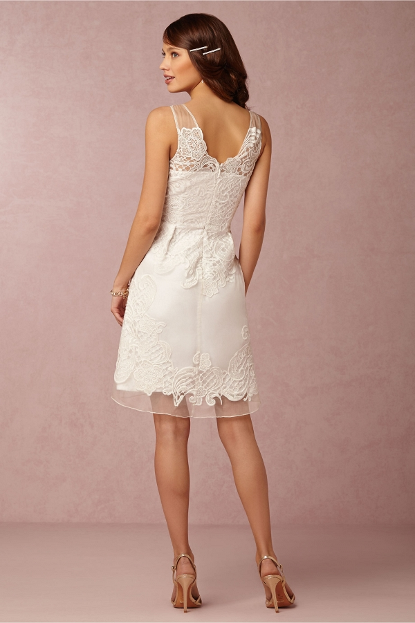 BHLDN Celestina Bridesmaid Dress Back View in Ivory
