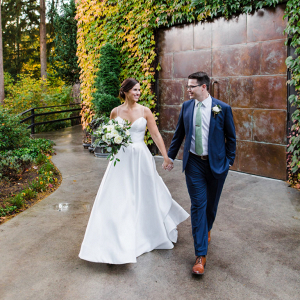 Rainy Seattle fall winery wedding