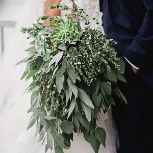 Gorgeous Over-sized Mixed Greenery Bouquet Wendy Alana Photography