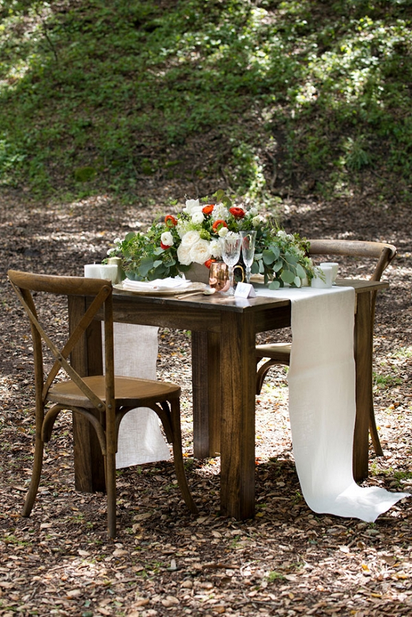 Sweetheart Table For Two Under The Redwoods Christine Glebov Photography