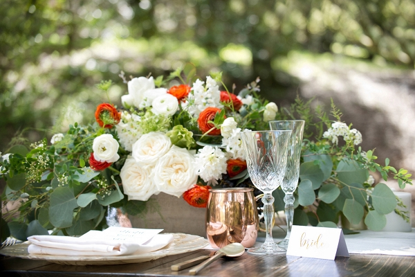 Rustic & Romantic Woodland Wedding Place Setting  Christine Glebov Photography