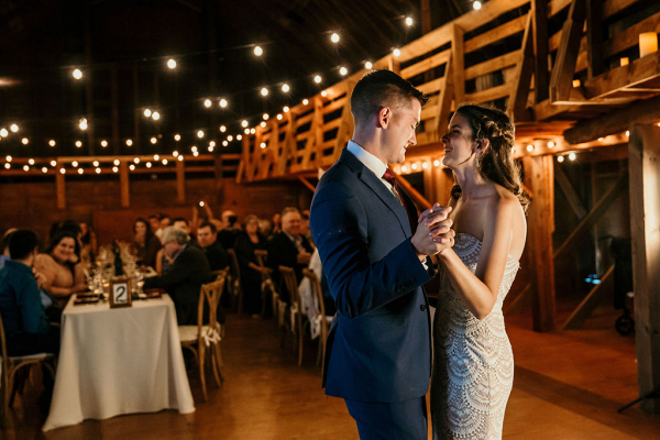 Exquisite barn wedding reception