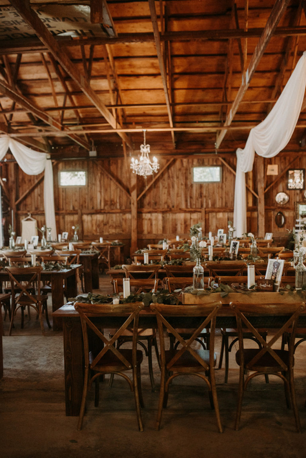 Wooden tablescapes