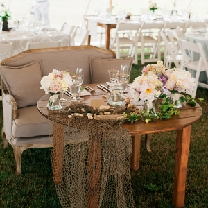 Coastal Wedding Inspired Seaside Sweetheart Table Eileen Meny Photography