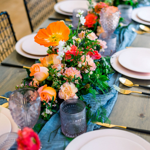 Floral tablescape