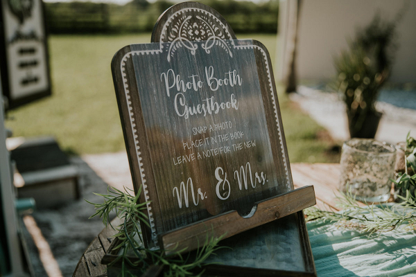 Wooden photobooth sign