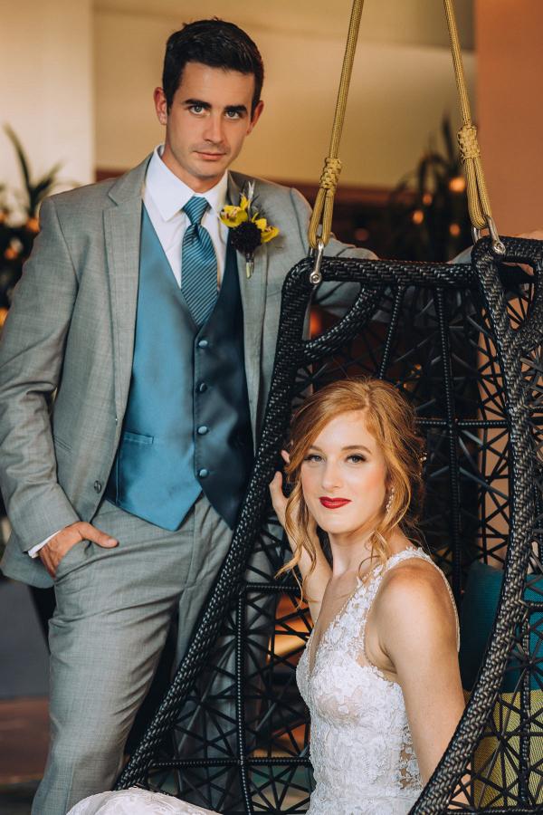 Tropical blue romantic wedding inspiration