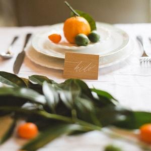 Upscale Hip Wedding Place Setting DiBlasio Photography