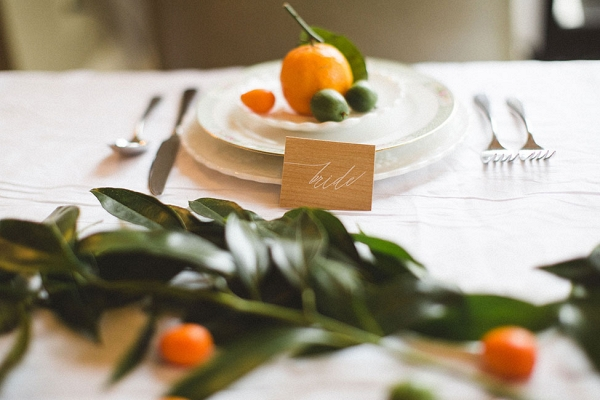 Upscale Hip Wedding Place Setting DiBlasio Photography