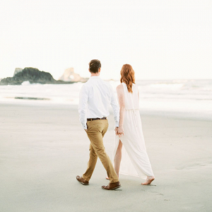 Natural Light Film Oregon Coast Engagement Sarah Nichole Photography