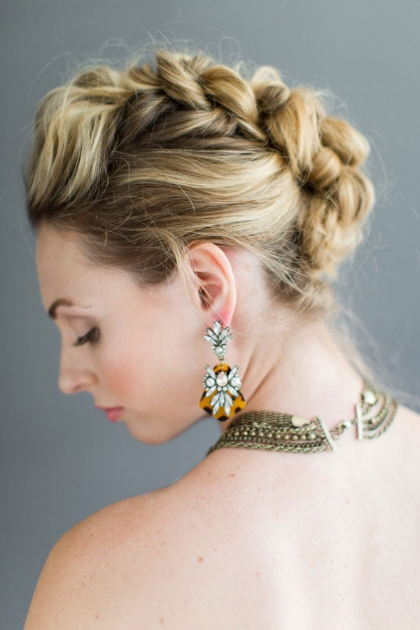 Gorgeous Wedding Hair Faux Hawk Braid Tutorial Melissa Kruse Photography