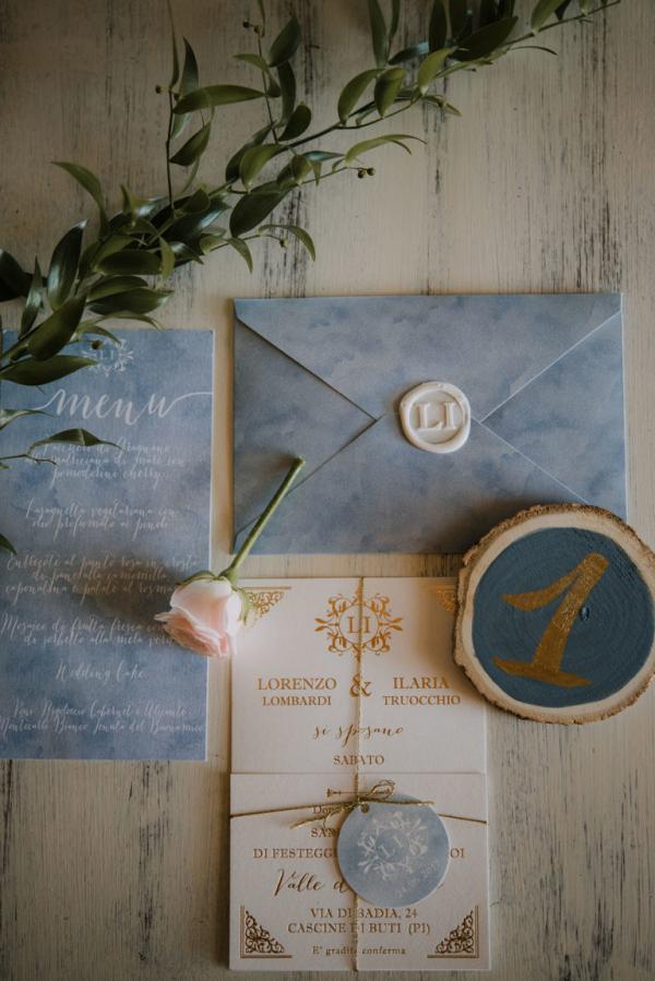 Wedding invitations with wax sealed envelopes