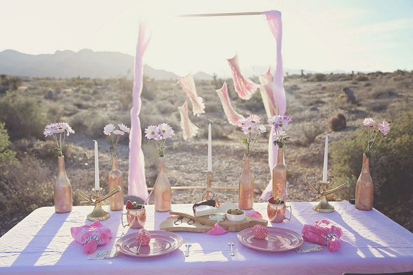 Watercolor Inspired Desert Oasis Tablescape Lissables  Photography