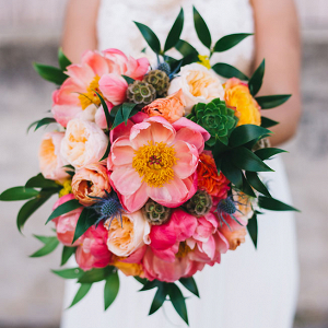 Peony Bouquet Florida Wedding Rudy Marta Photography
