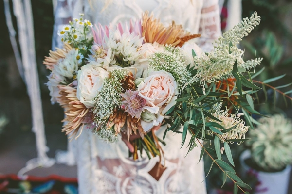 Abstract Bohemian Wedding Bouquet Chris Wojdak Photography