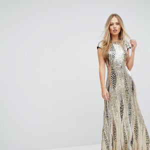 Allover Sequin Maxi Dress