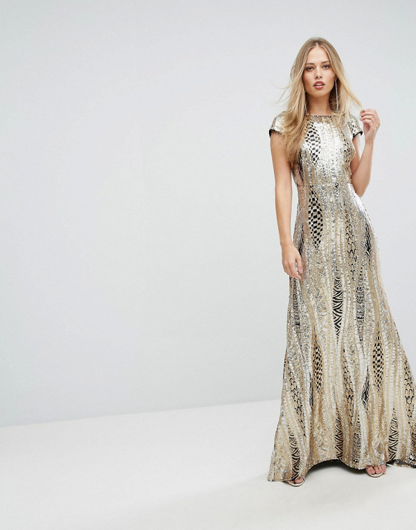 Allover Sequin Maxi Dress