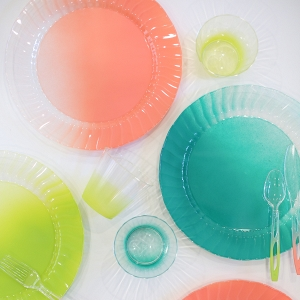 Colorful disposable dinnerware tutorial