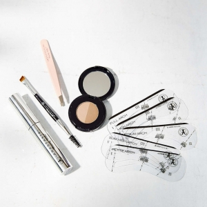 Five-piece brow kit for shaping, taming, and filling
