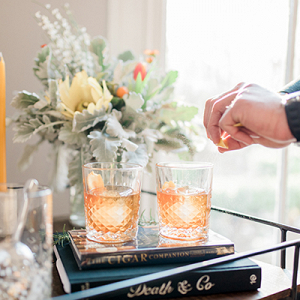 Old Fashioned recipe plus a warm and cozy engagement session