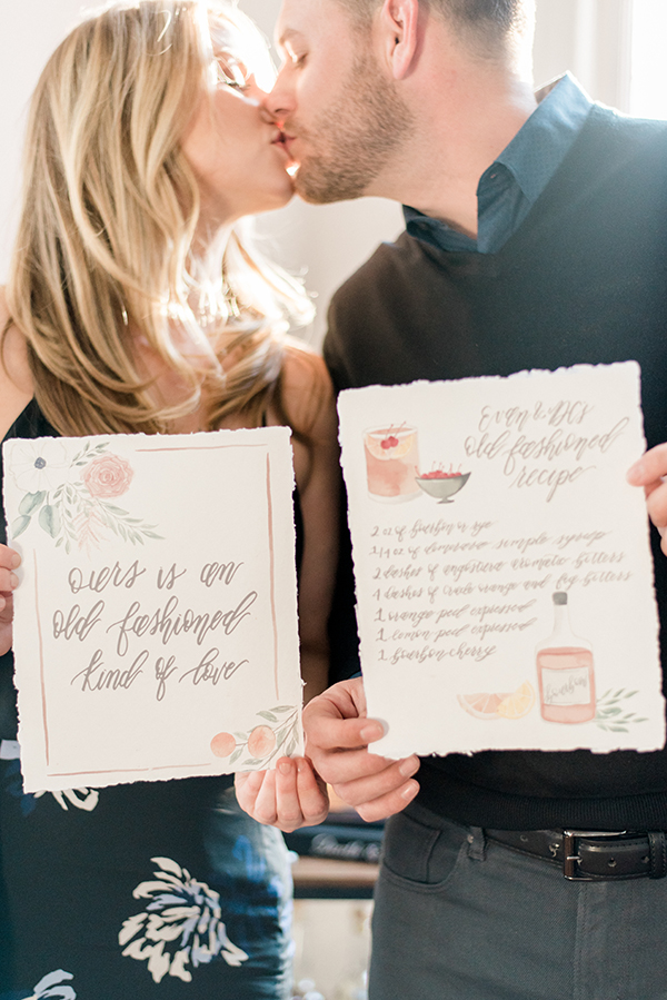 A mixology-inspired engagement session in North Carolina