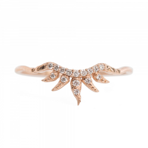 'Arabesque' Rose Gold Wedding Ring