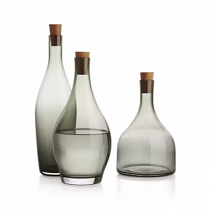 'Arlo' smoked glass decanter set