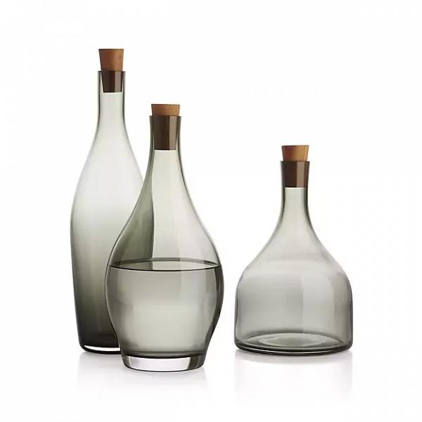 'Arlo' smoked glass decanter set