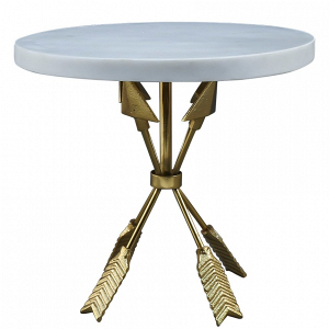 Golden arrow cake stand