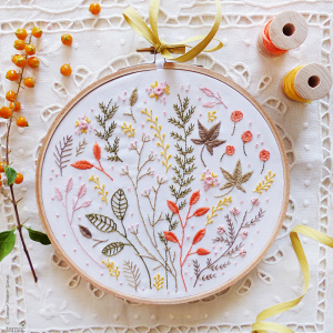 Autumn Leaves Embroidery Kit