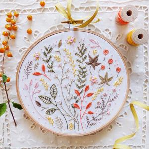 Autumn Leaves Embroidery Kit