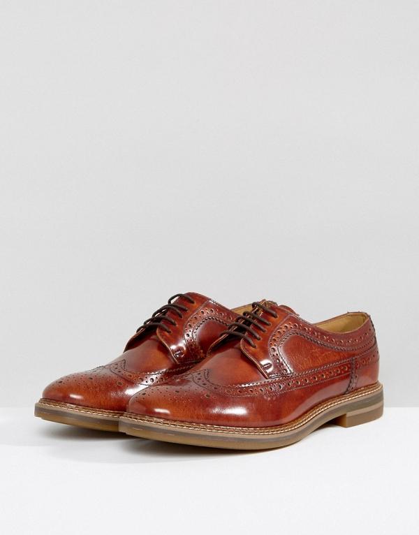 Men's Tan Brogue Shoes